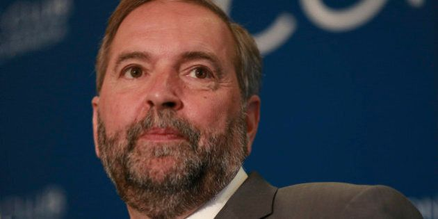 TORONTO, ON - JUNE 16: NDP and Official Opposition in the House of Commons Leader, Thomas Mulcair, speaks...