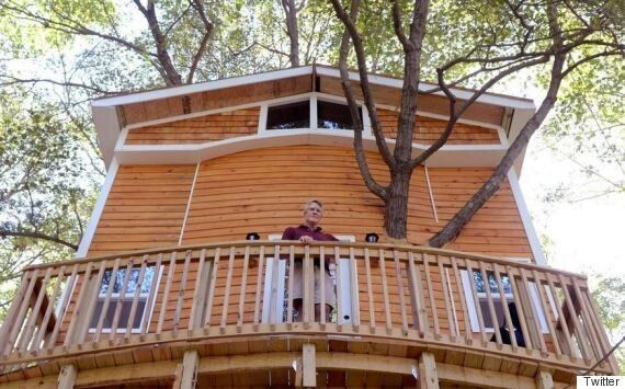 Grandfather Builds Epic Tree House For