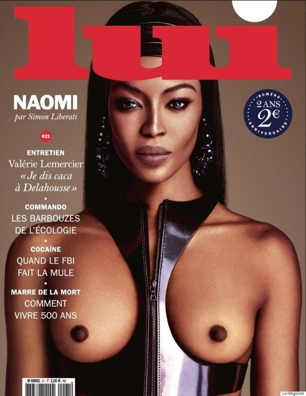 Naomi Campbell Goes Naked For Racy Lui Magazine Shoot