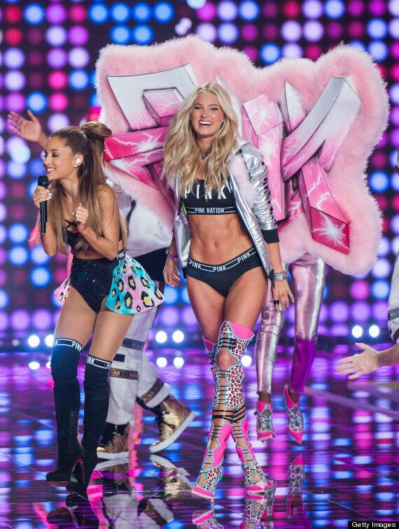 Ariana Grande Smacked By Victoria's Secret Angel