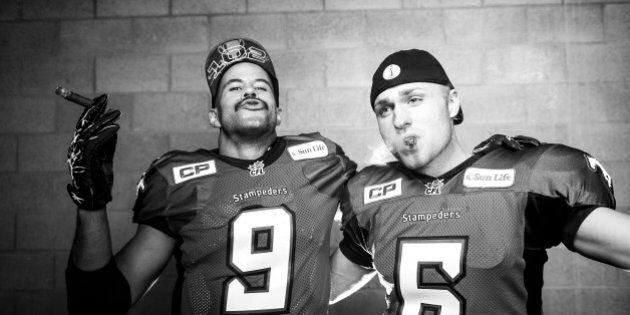 Stamps Celebrate Grey Cup Win With Hilarious Photo Shoot