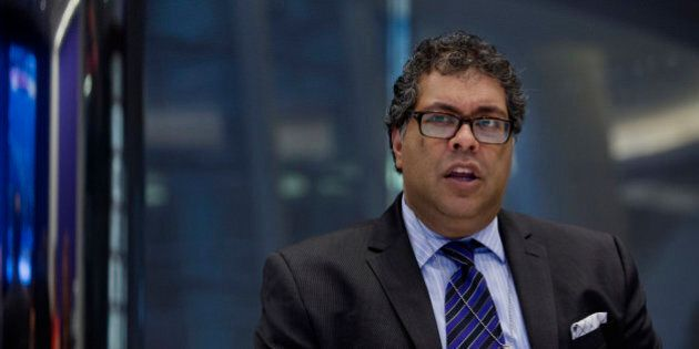 Naheed Kurban Nenshi, mayor of Calgary, speaks during an interview in New York, U.S., on Monday, June...
