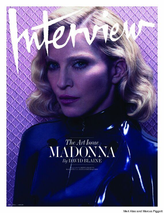 Madonna Poses Topless For Interview