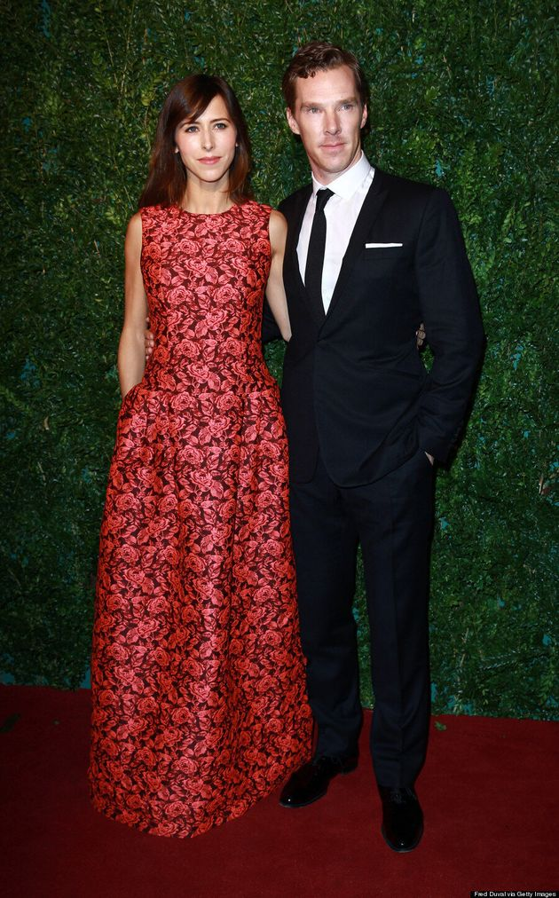 Benedict Cumberbatch And Sophie Hunter Go Red Carpet