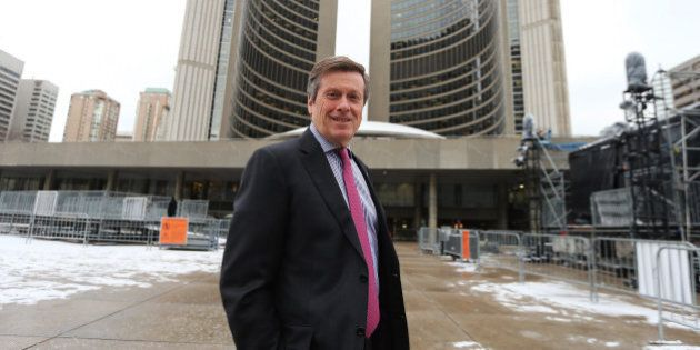 TORONTO, ON- NOVEMBER 27 - Mayor elect John Tory at city hall talks about divides ,political and otherwise,that...