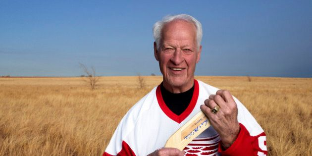 In an undated image provided by Crown Media United States, former Detroit Red Wings hockey great Gordie...