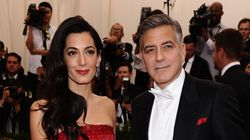 George And Amal Clooney Celebrate Their First