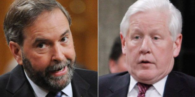 Bob Rae Lets Thomas Mulcair Have It After Munk Debate