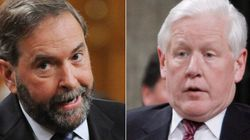 Bob Rae Lets Mulcair Have It After Debate