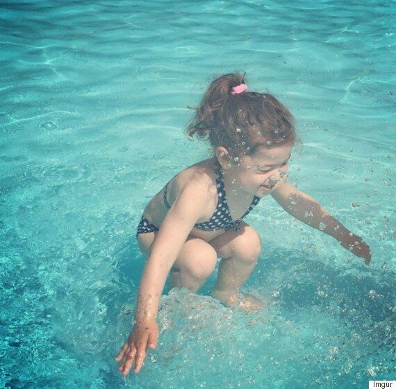 Photo Of Girl Under Or Over Water Goes