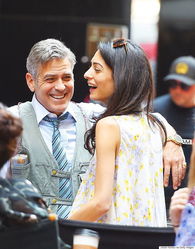George And Amal Clooney Celebrate Their First Wedding