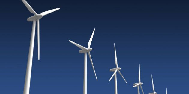 Wind Turbines (isolated with clipping path)