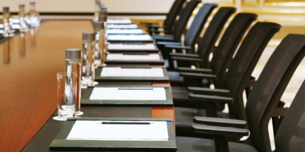 A detail shot of a meeting room often referred to as MICE by the hospitality