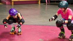 WATCH: Want To Roller Derby? Get Low... And Bring Butt