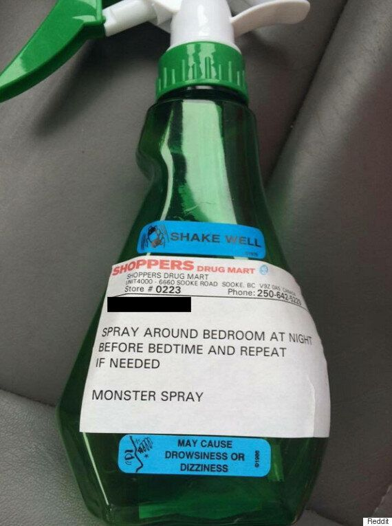 'Monster Spray' Handed Out By Shoppers Drug Mart Pharmacy In Sooke,