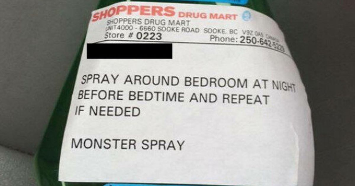 Monster Spray' Handed Out By Shoppers Drug Mart Pharmacy In