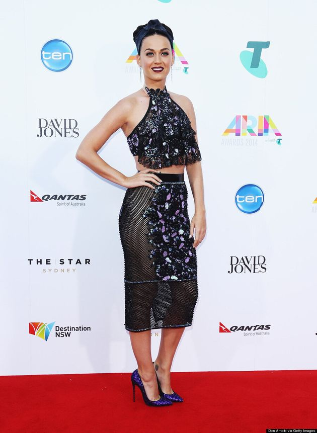 Katy Perry Ditches Her Underwear On The Aria Awards Red