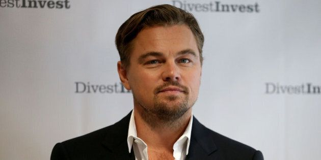 NEW YORK, NY - SEPTEMBER 22: Actor Leonardo DiCaprio poses for a photo following a Divest-Invest new...