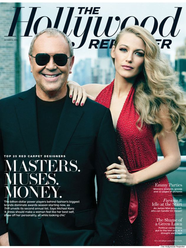Blake Lively Is A Vision In Red On The Hollywood Reporter