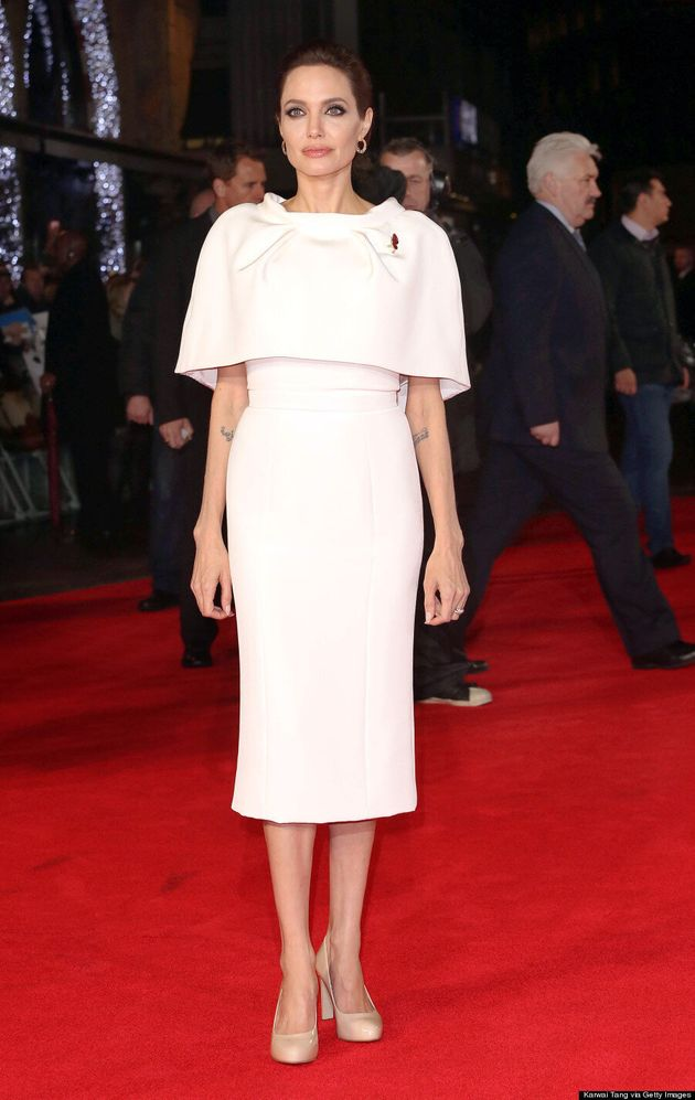 Angelina Jolie Is A Vision In White At 'Unbroken' UK