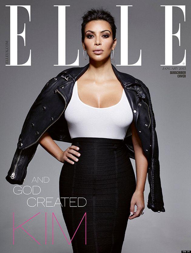 Kim Kardashian Covers Elle UK's 'Confidence