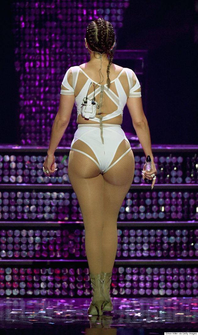 Jennifer Lopez Slays In White Bodysuit At iHeartRadio Music