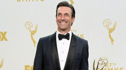 Jon Hamm Finally Gets His Emmy And Looks Dashing Whilst Doing