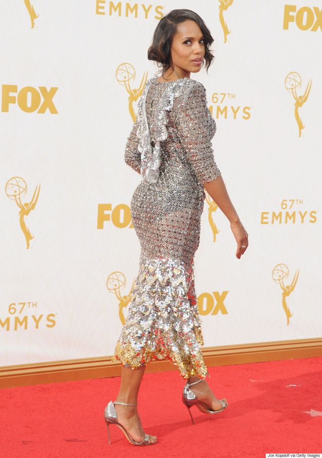 Kerry Washington's Emmys 2015 Dress Brings The Sparkle To The Red