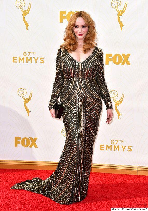 Christina Hendricks Stuns On The Emmys 2015 Red