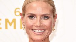 Heidi Klum Brings The Sunshine To Emmys Red