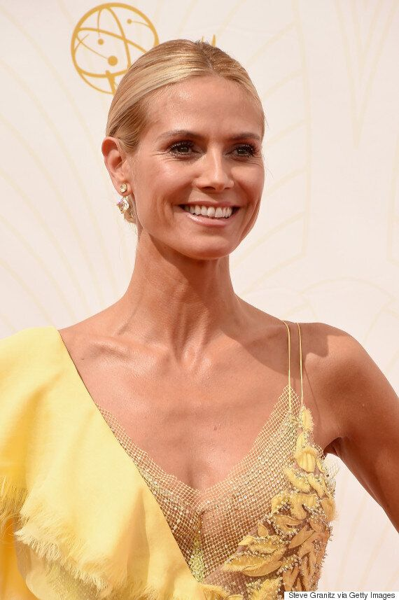 Heidi Klum Brings The Sunshine To Emmys 2015 Red