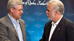 Harper, Mulcair Respond To Quebec Premier's 'Shopping
