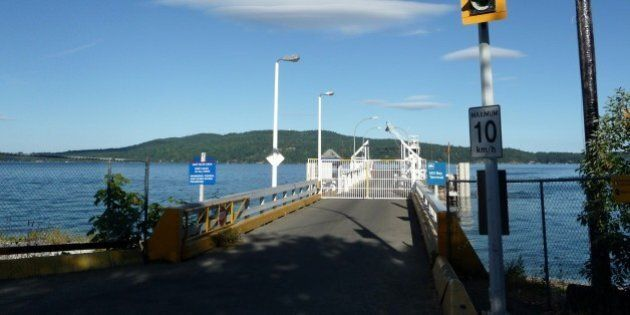 waiting for the Mill Bay - Brentwood Bay Ferry, didn't take the ferry though, cash