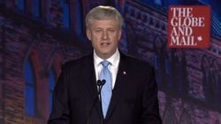 Harper Blasts Trudeau, Mulcair Over Economic