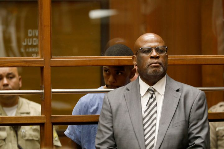 Chris Darden appearing in court on April 4, 2019 in Los Angeles.