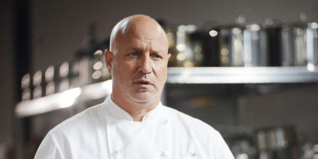 TOP CHEF -- 'Last Chance Kitchen' Episode 405 -- Pictured: Tom Colicchio -- (Photo by: David Moir/Bravo/NBCU Photo Bank via Getty Images)
