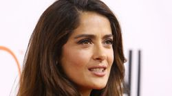 Salma Hayek Is Pretty in (Ruby) Pink On TIFF Red