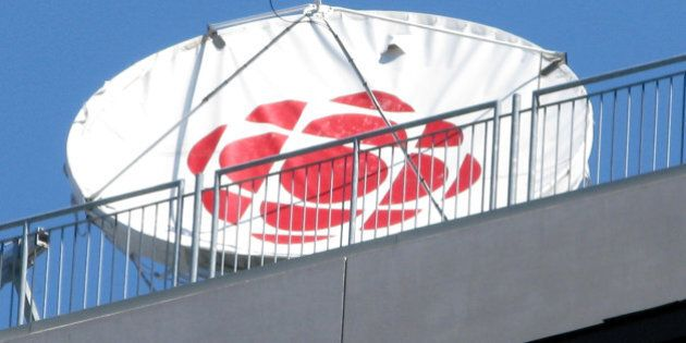 Transmission dishes on the roof. This one with the CBC logo.