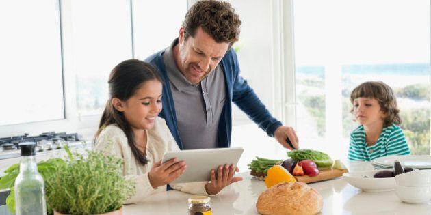 Man preparing food for his