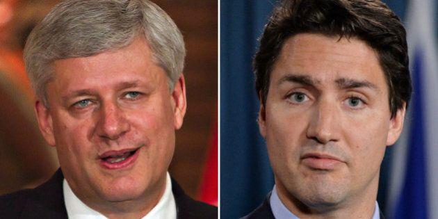 Harper Mocks Trudeau On