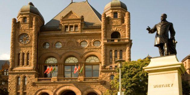 Parliamentary building in Queen's Park, Ontario, Toronto,