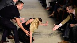 WATCH: Candice Swanepoel Wipes Out On The Givenchy