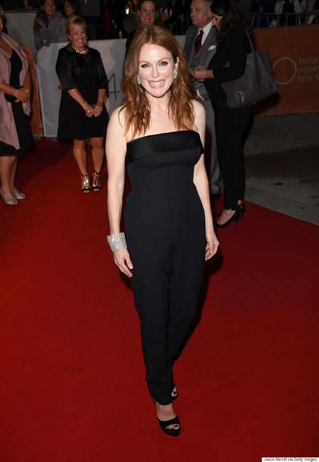 Julianne Moore A-List Star Charms TIFF Crowds In Hugo Boss