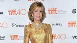 Jane Fonda Is A Golden Goddess On The TIFF Red