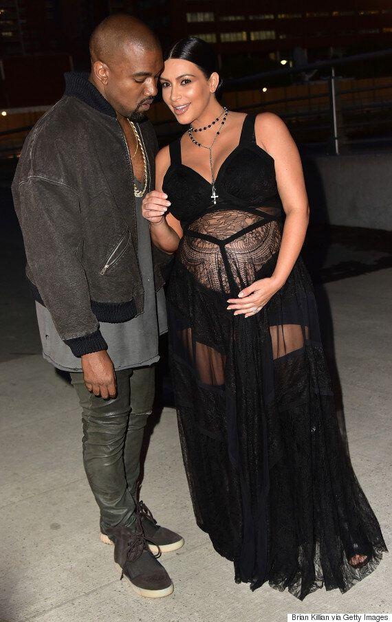 Kim Kardashian Puts Her Upcoming Baby Front And Centre At New York Fashion