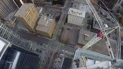 Climber Scales Crane Atop Calgary Building, Police Not