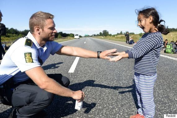 Danish Police Officer Playing Games With Syrian Girl Will Heal Your