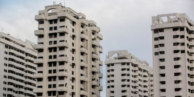 Residential buildings stand in the Barra da Tijuca neighborhood of Rio de Janeiro, Brazil, on Friday,...