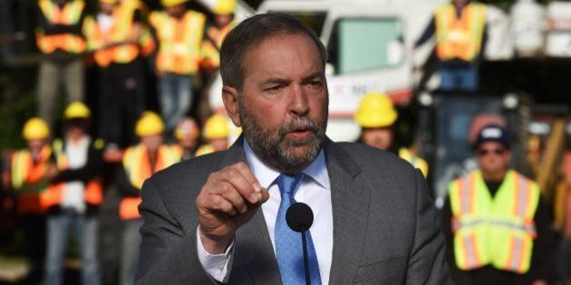 Syria Refugee Crisis: Mulcair Says He'll Resettle 10,000 Refugees Before New