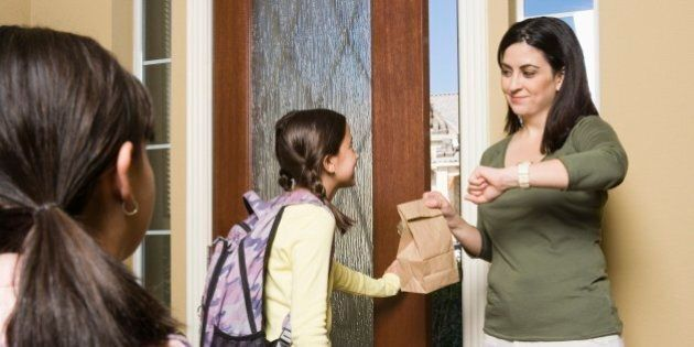 Children leaving for